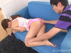 A bold boyfriend forces her to open her legs & lips