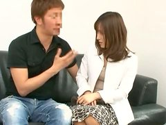 Akari Minamino gets her snatch fingered and pounded doggy style