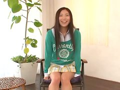 Shy teen Madoka Hitomi gets fingered by the producer