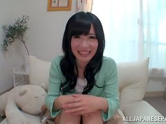 Sensual Japanese honey is so fucking petite and so damn naughty