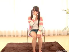 Shy and giggly teen shows her true colors with cock