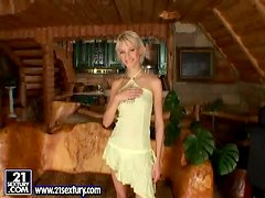 Fisting pleasures with a divine blond teen Tanja