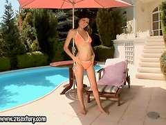 Summertime Outdoors Masturbation with Dildo by Sexy Pure Angel