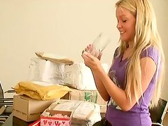 Hot Blonde Sophie Moone Receiving Presents from Her Fans