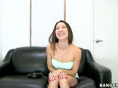 Asian bombshell Lily toys her pussy and gets it pounded hard
