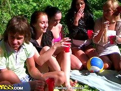Wild College Girls Fucking Outdoors In An Orgy