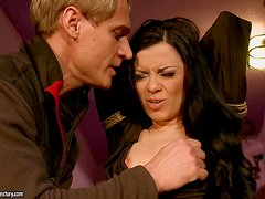 Torture and BDSM Sex in the Dungeon for Brunette Alice King
