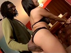 Curvy Ebony Babe Aliana Love Having Fun with a Black Dick in Her Pussy