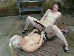 Two crazy kinky hotties use an enema on each other