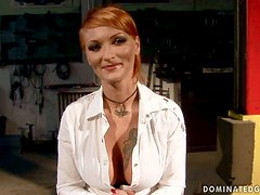 Ravishing redhead is ravaged by her controlling partner