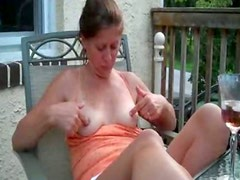 FLASHING TITS  ON PORCH