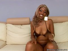 Bootyful Sunshine M. Takes Two Big Black Cocks