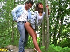 Hot Girl Goes To The Woods To Take Some Cock