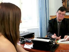 Teen looking to impress the creepy old boss
