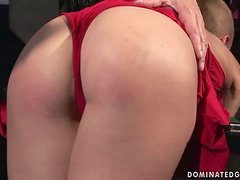 Short-Haired Blonde Fucked and Abused in BDSM Porn Vid