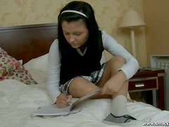 Sensual schoolgirl Isabel gets laid by her classmate
