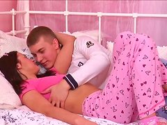 Cute Russian Couple Get Their Fuck On At Home