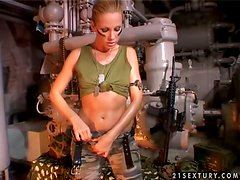 Tight Hot-Ass Broad Is The Army Dream