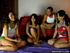 Bold Brother Hangs Out With Some Horny Sleepover Chicks