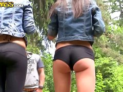 Cute College Chicks Going Mad For Manhood In The Country