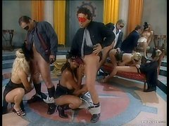 Everybody Is Masked In This Group Sex Orgy