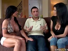 Lucky Guys Gets super Horny In Anal MILF Threesome