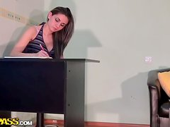 Real Office Romp For Young Couple