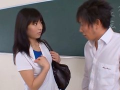 Sexy Ass Teenage Asian Babe Into Hardcore Fetish Fucking With Her Lover In The Classroom