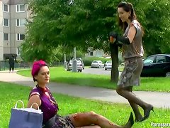 Eurobabes Get Messy In The Park