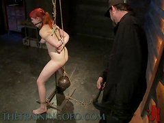 Slutty Redhead Is Trained To Serve Cock