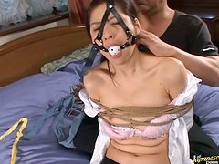 Yuko Kazuki Is A Tied Up Sex Slave With A Gag