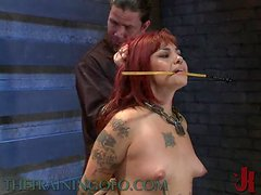 A Bunch Of Redheads Are Shocked Caned And Tied Down In BDSM Video