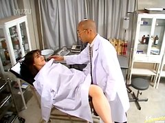 Busty MILF Asian Seducing Doctor With Blowjob
