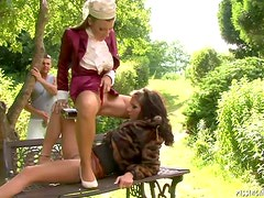 Stud´s Cock Is Treated Like Royalty By Two Slags