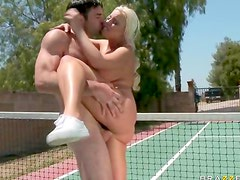 Tennis girl has fun sex