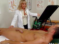 Doctor shows her patient good time