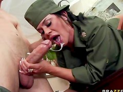 Military man fucks Savannah Stern
