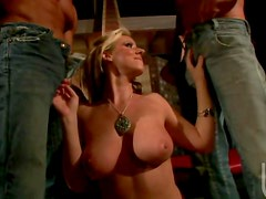 Carolyn Reese with two hot guys
