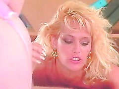 Lusty hot Debi Diamond softly munching on a thick cock until she gets cummed