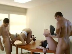 Horny Nymphos Having Group Sex In The Office