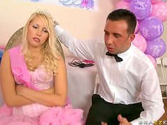 Fucking The Hot Blonde Teen Vanessa Cage For Her Sweet 18