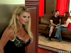 Busty Blonde British MILF Taylor Wane Takes off Her Panties For Sex