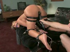 Kinky Blonde Babe Gets Tied Up and Fucked Really Hard In BDSM Vid