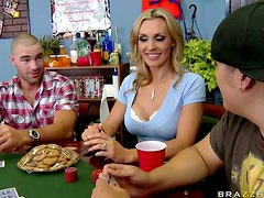 Deepthroat and Doggy Style Sex For British MILF Tanya Tate After Strip Poker