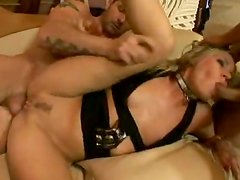 Blonde Charry Jul Gets All Her Holes Fucked Insanely Hard In Gangbang