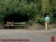Fucking The Blonde In The Park and Then Leaving Her for Public Humiliation