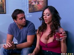 Big Breasted MILF Ariella Ferrera Giving Head before Breakfast