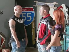 Redhead Babe Kirsten Price Is One Horny Biker Chick