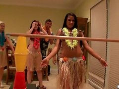 Three Hot Babes Go To a Luau To Play Limbo And Get Laid