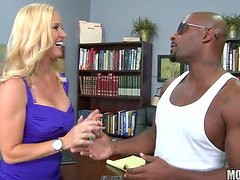 Busty Blonde MILF Totaly Tabitha Doing Ass To Mouth With a Black Cock
